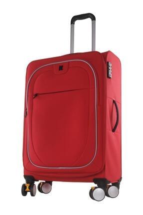 ITLUGGAGE Büyük Boy Kumaş Valiz Kırmızı 2228