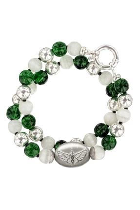 Valael Melek Rafael Kolye, Gümüş Melekli Kolye, Yeşil Kristalli Kolye