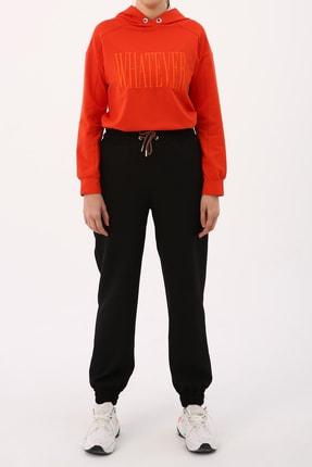ALLDAY Kadın Siyah Bel Lastikli Pantolon
