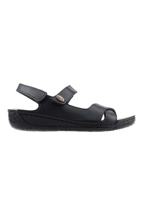 Muya 97006-3162 Günlük Anatomik Kadın Sandalet Terlik Siyah - 37