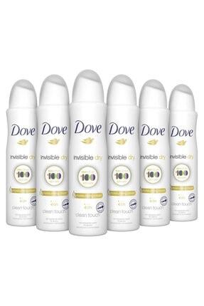 Dove Kadın Invisible Dry Deodorant 150 ml 6 Adet
