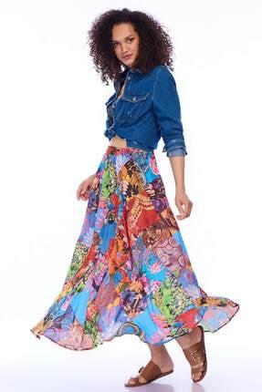 Pitti Kadın Mavi Etek 20963