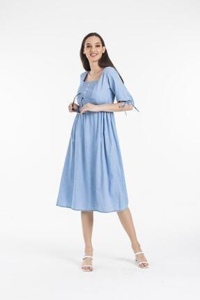 Pitti Kadın Buz Mavi Elbise 50995-p