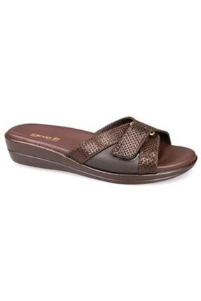 Ceyo 9863-7 Kadın Terlik Ayakkabı 04990kahve