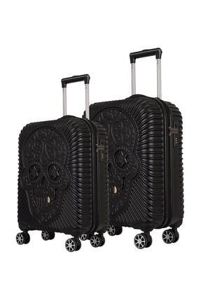 ÇÇS Grillz Collection Orta Ve Kabin Boy Valiz Seti Siyah 5180