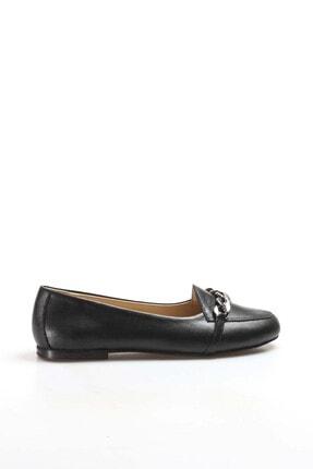 Fast Step Kadın Siyah Hakiki Deri Babet Ayakkabı 064za3005