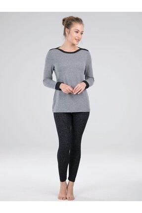 Blackspade Kadın Gri Taytlı Pijama Takım 50054