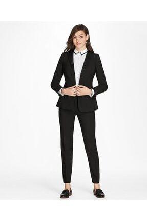 Brooks Brothers Kadın Siyah Smokin Slim Pantolon