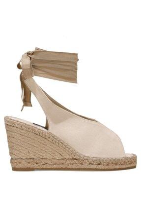 Nine West Paola 1fx Bej Kadın Dolgu Topuklu Sandalet