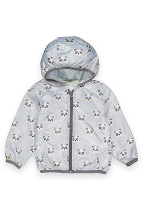 Midimod Gri Panda 3 Yaş Kız Yağmurluk