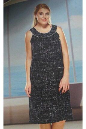 PJS PİJAMA Kalın Askılı Robadan Büyük Beden Penye Elbise