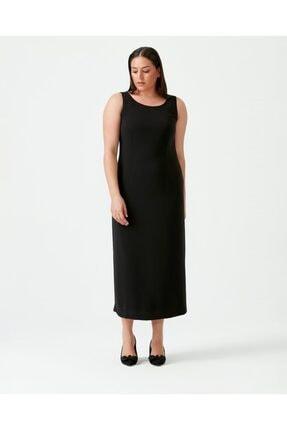 Seçil Galaxı Kadın Siyah Büyük Beden Kolsuz Elbise