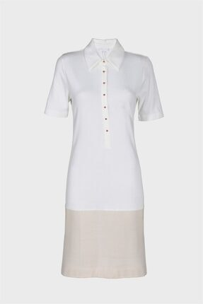 Escada Kadın Beyaz Elbise
