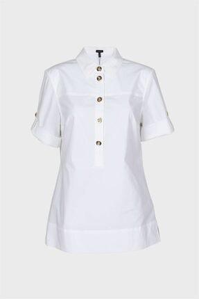 Escada Kadın Beyaz Düğmeli Gömlek