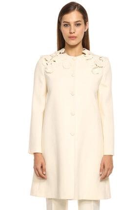 Lanvin Kadın Ekru Palto