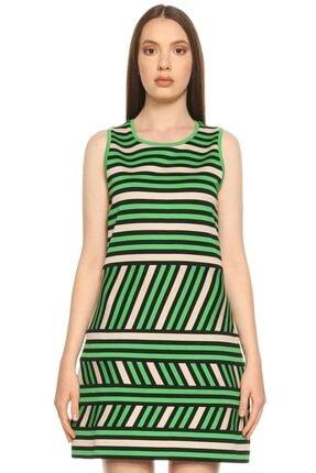 Lanvin Kadın Yeşil Çizgili Elbise