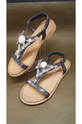 Kriste Bell Kadın Siyah Taşlı Sandalet