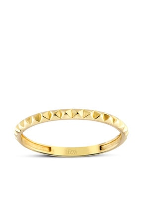 Lizay Pırlanta Kadın Altın Trend Yüzük