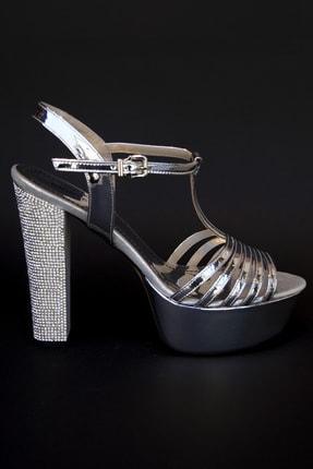Kriste Bell Kadın Gümüş Abiye Ayakkabı