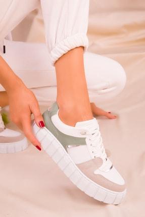 SOHO Buz-Beyaz-Yeşil Kadın Sneaker 16270