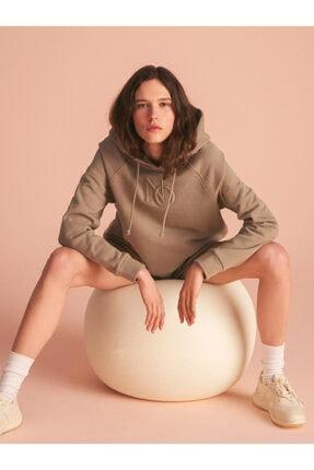 Nocturne Kadın Kapüşonlu Nakışlı Sweatshirt