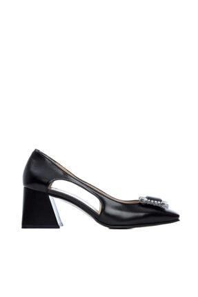 Kemal Tanca Kadın Siyah Klasik Ayakkab