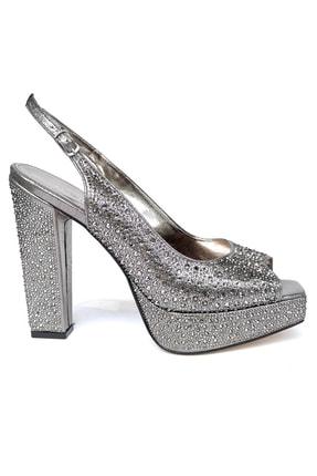 Kriste Bell Kadın Platin Topuklu Ayakkabı