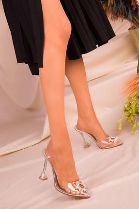 SOHO Gümüş Kadın Klasik Topuklu Ayakkabı 16222