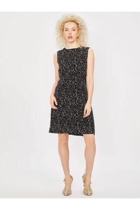 Vekem Kadın Siyah Kolsuz Pamuk Elbise