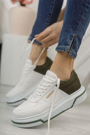 Chekich Kadın  Ch075 Ipekyol Bt  Ayakkabı Beyaz / Haki