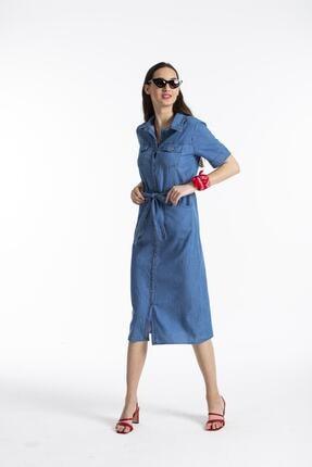 Pitti Kadın Lacivert Elbise 51097