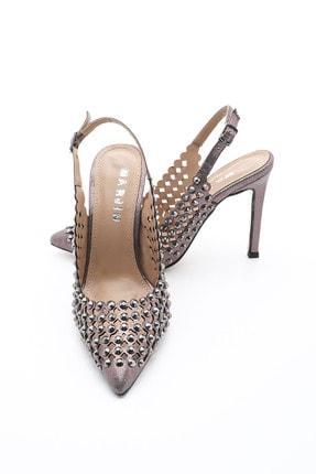 Marjin Kadın Stiletto Topuklu Ayakkabı Limelplatin