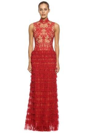 Alexander McQueen Kadın Kırmızı Elbise