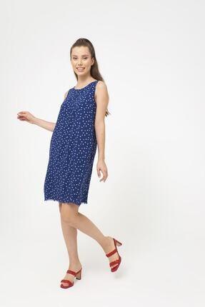 VENA Kadın Mavi Mıranda Çiçekli Elbise