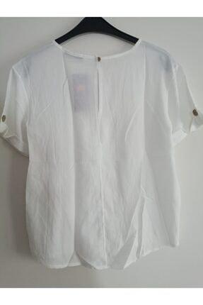Pastel Kadın Beyaz Kısa Kollu Tshirt