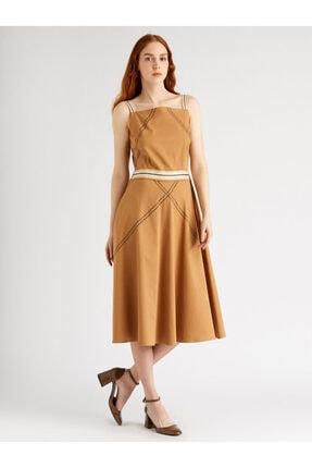Vekem Kadın Hardal Sarısı Askılı Robadan Elbise 9109-0123