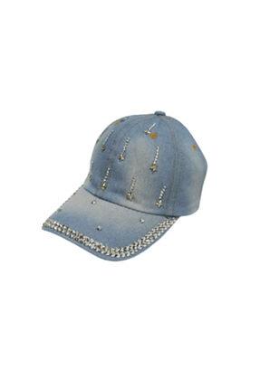 Kitti Taşlı Kot Kadın Şapka