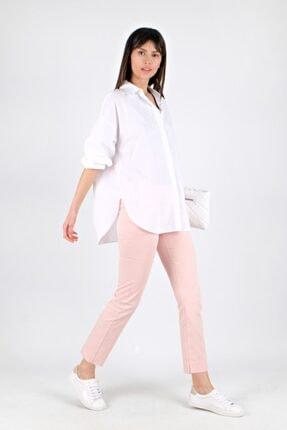 Spazio Kadın Beyaz Oversize Gömlek