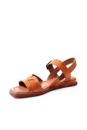 Beta Hakiki Deri Kadın Taba Sandalet