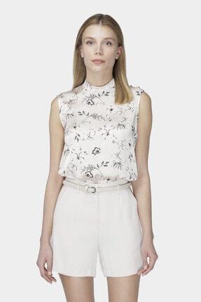 W Collection Kadın Pudra Floral Desenli Bluz