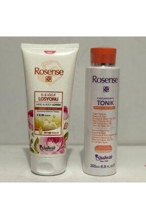Rosense El Ve Vücut Losyonu 200 ml  Canlandırıcı Tonik 200 ml Hediye