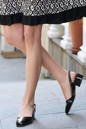 Mio Gusto Aura Siyah Rugan Topuklu Ayakkabı