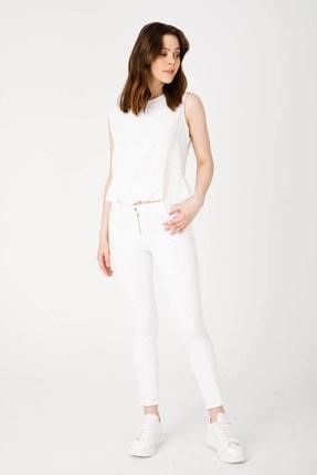 Moda İlgi Kadın Beyaz Pantolon