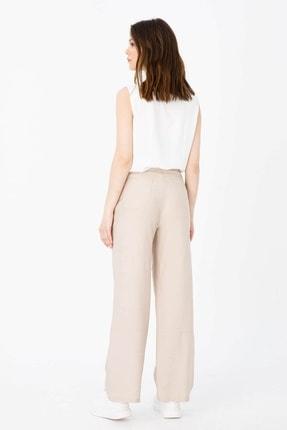 Moda İlgi Kadın Gri Filato Cep Pantolon