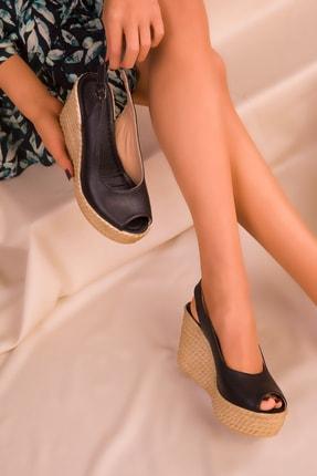 SOHO Siyah Kadın Dolgu Topuklu Ayakkabı 16299