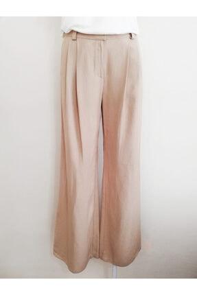 Vekem Kadın Bej Rahat Kesim Pantolon