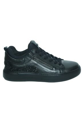 Greyder 29040 Siyah Deri Urban Casual Kadın Ayakkabı