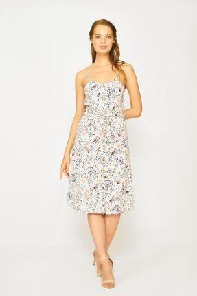 Batik Kadın Pembe  Desenli Casual Elbise  Y42729
