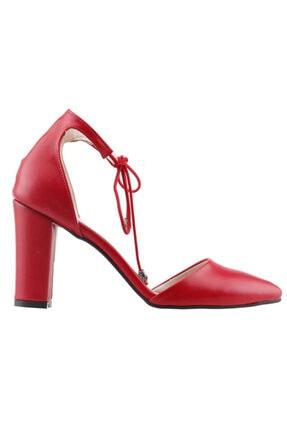 Ayakland 137029-1160 9 Cm Topuk Bayan Cilt Sandalet Ayakkabı