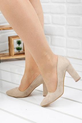 Ayakland 137029-311 Süet Günlük 8 Cm Topuk Bayan Ayakkabı